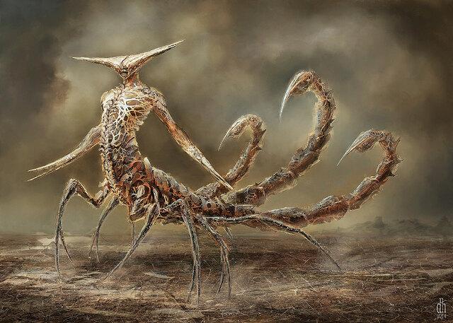 Фото №8 - Художник превратил знаки зодиака в жутких существ