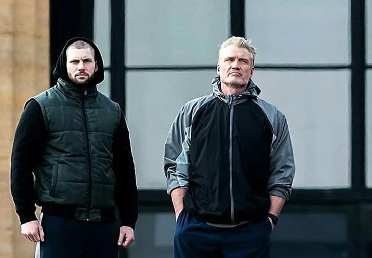 Фото №1 - В Сети появилось видео тренировки Дольфа Лундгрена и Флориана Мунтяну в преддверии «Крида-2»