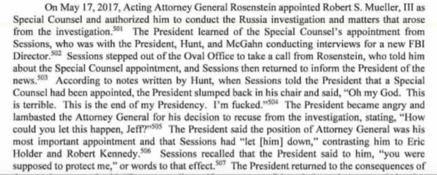 Фото №1 - Трамп: «Мне конец!» — избранная цитата из доклада спецпрокурора о связях американского президента с Россией