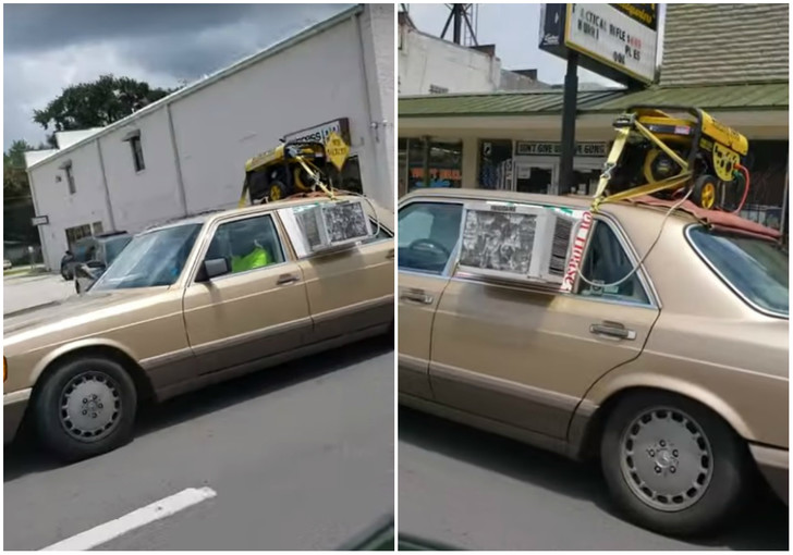 Фото №1 - По улицам Флориды колесит автомобиль с домашним кондиционером (видео)