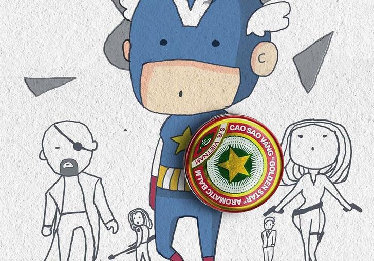 Фото №1 - Художник создает смешные и наивные плакаты с супергероями Marvel из подручных средств