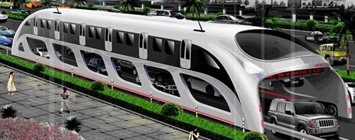 Китайский сквозной автобус