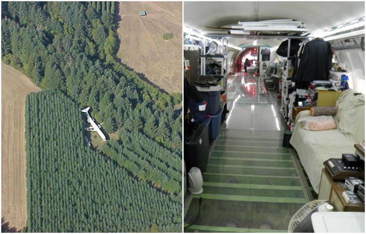 Фото №1 - Настоящий жилой дом в заброшенном самолете посреди леса!