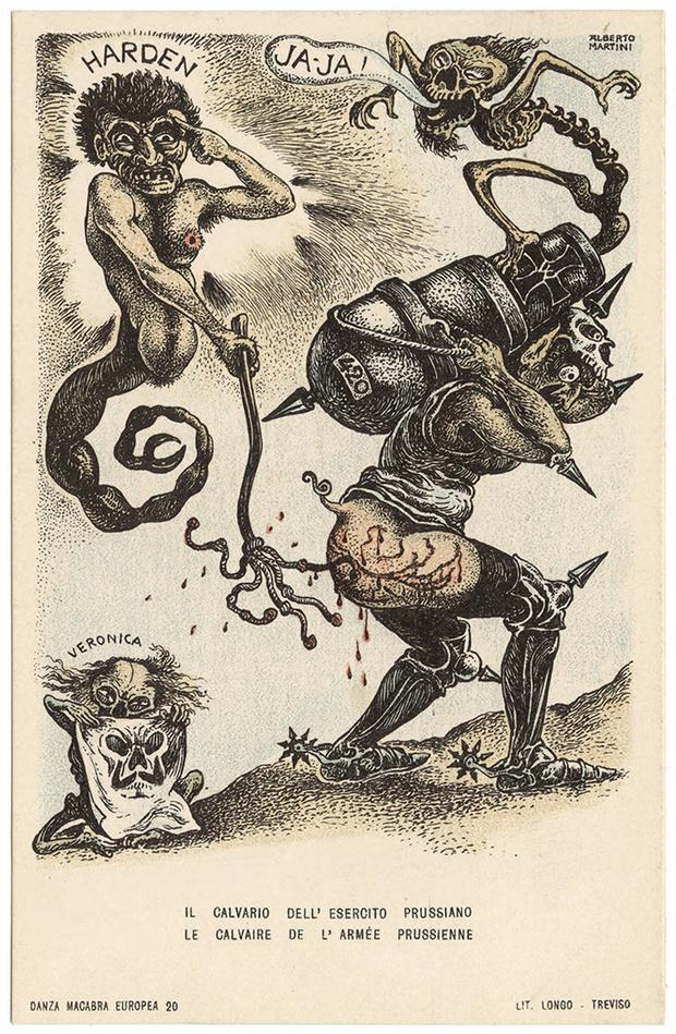 Фото №33 - Жутковатые карикатуры Первой мировой