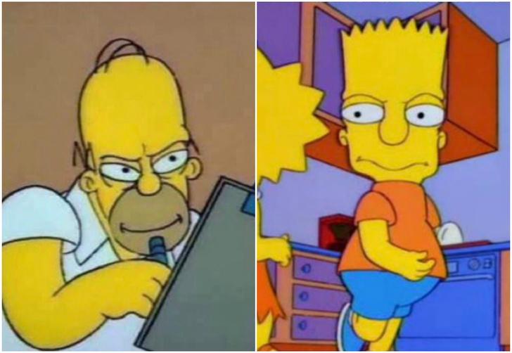 Фото №1 - Как персонажи «Симпсонов» выглядят анфас