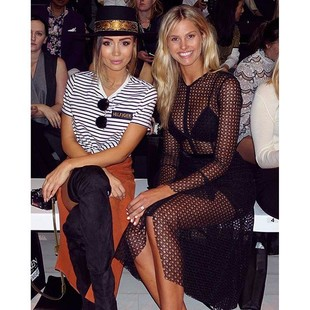 Front row with @natalie_roser // check our adventures backstage on the GRAZIA snapchat