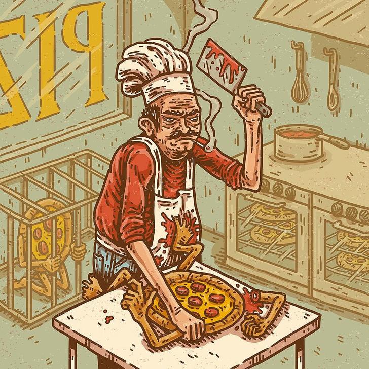 Фото №10 - Сатана, кровища и извращения: лучшие иллюстрации из журнала Nakid