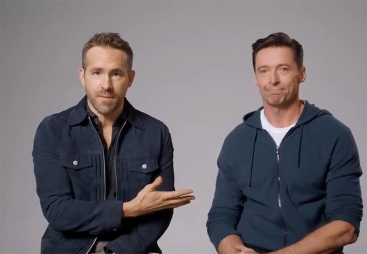 Фото №1 - Райан Рейнольдс и Хью Джекман «помирились» и сняли друг для друга рекламу (видео)