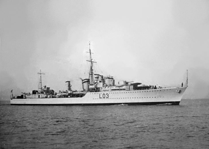 Второй корабль кота — эсминец «Казак»