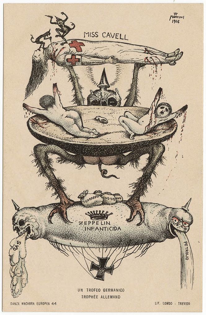 Фото №14 - Жутковатые карикатуры Первой мировой