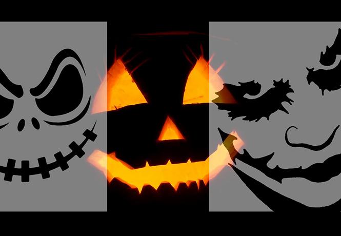 Фото №1 - 25 лучших трафаретов для хеллоуинской тыквы