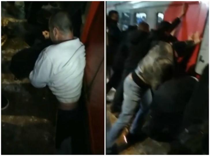 Фото №1 - Мужик застрял между вагоном и платформой, и пассажиры раскачали поезд, чтобы его вытащить (видео)