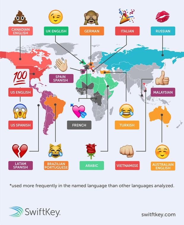Фото №3 - Определены самые популярные эмодзи в разных языках мира
