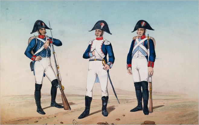 Испанская пехота, XIX век