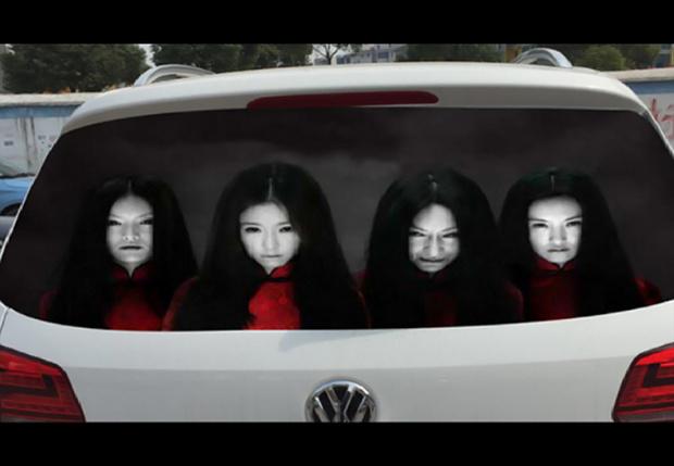 Фото №1 - 11 хоррор-наклеек для автомобиля