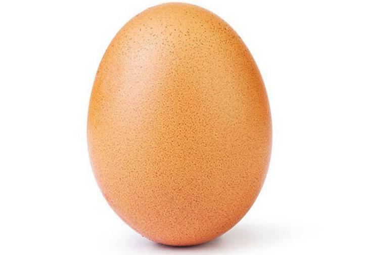 Фото №1 - Фотография обычного куриного яйца побила рекорд по количеству лайков в «Инстаграме»