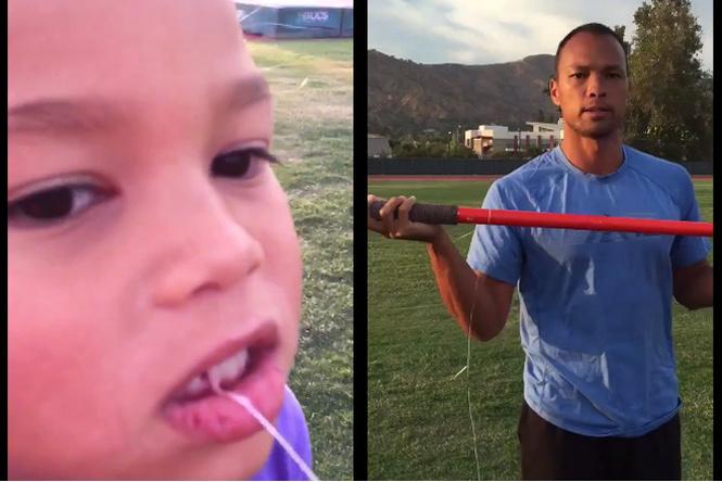 Десятиборец вырвал дочери зуб копьем!