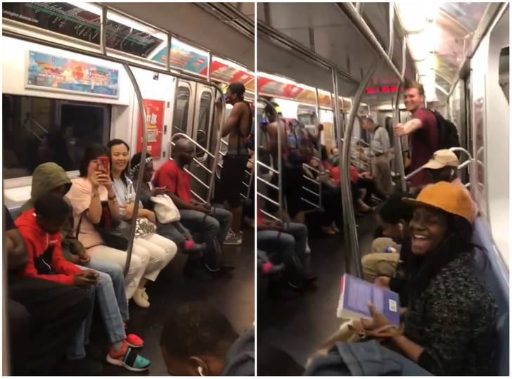 Фото №1 - Твит дня: пассажиры метро экспромтом поют песню Backstreet Boys (видео)