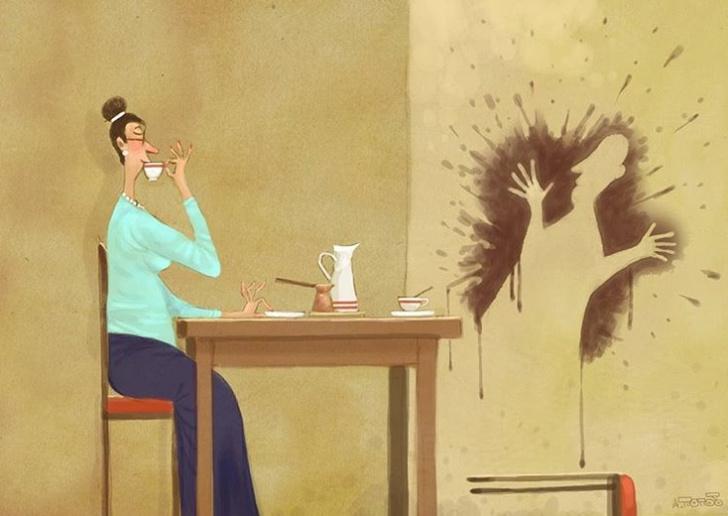 Фото №1 - 25 уютных и едких карикатур Андрея Попова