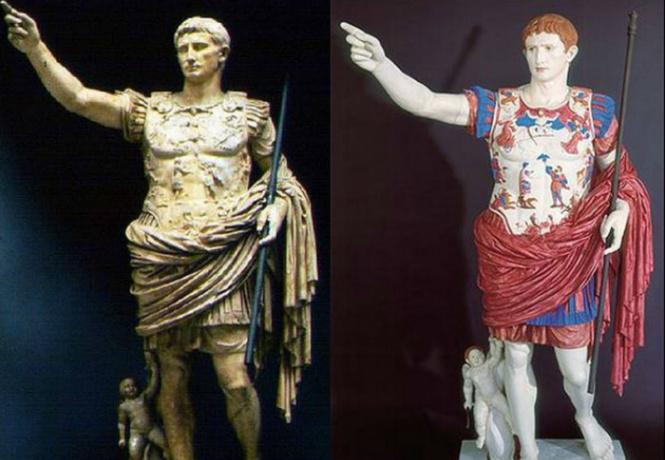 полюбуйся деле выглядели античные статуи