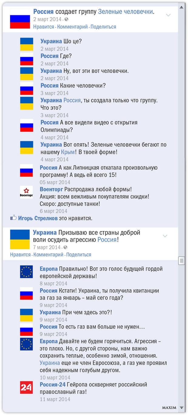 Российско-украинский конфликт в Фейсбуке