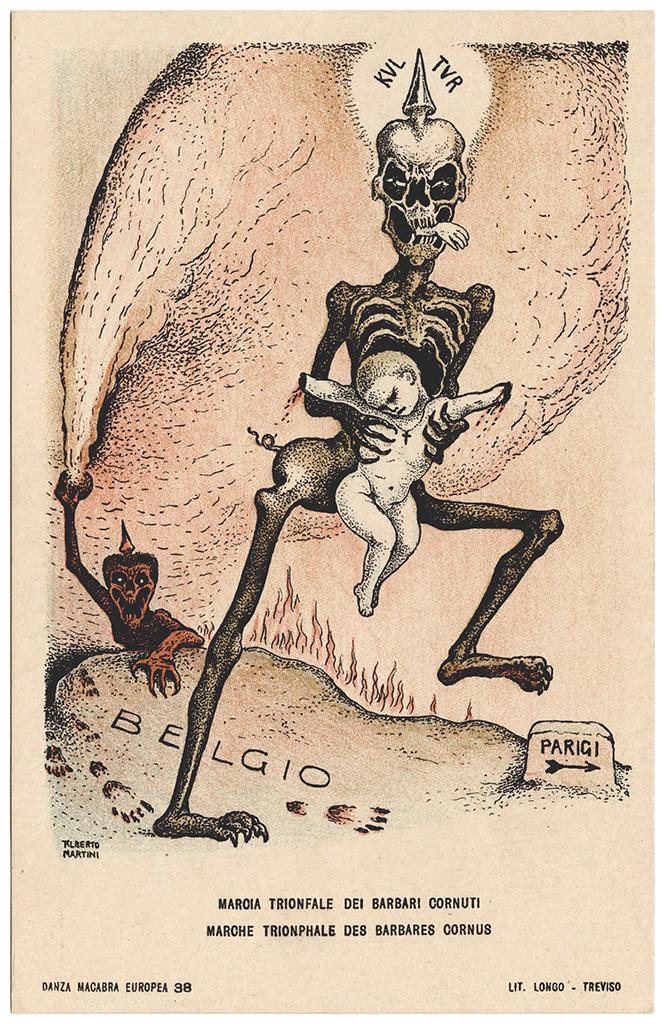 Фото №41 - Жутковатые карикатуры Первой мировой