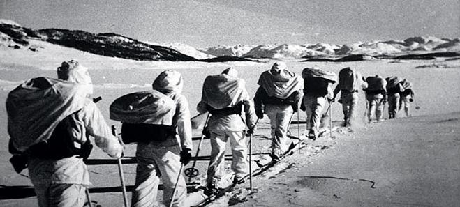 За пару недель британские коммандос прошли на лыжах более 400 километров по горам захваченной немцами страны