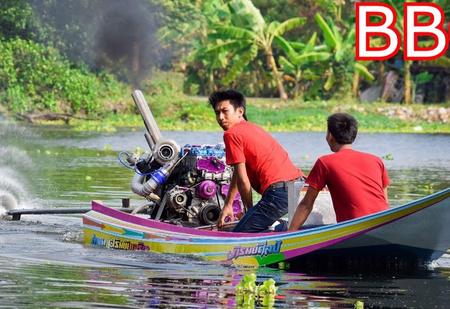 Тюнинг по-тайски: на традиционные лодки устанавливают сверхмощные турбодизели (видео)