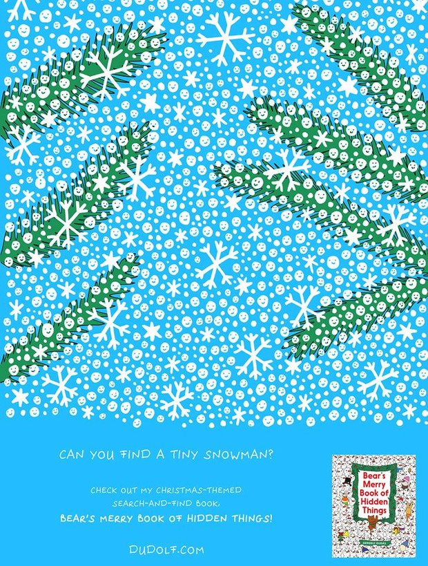 Фото №2 - Предновогодняя головоломка: найди снеговика на этой картинке
