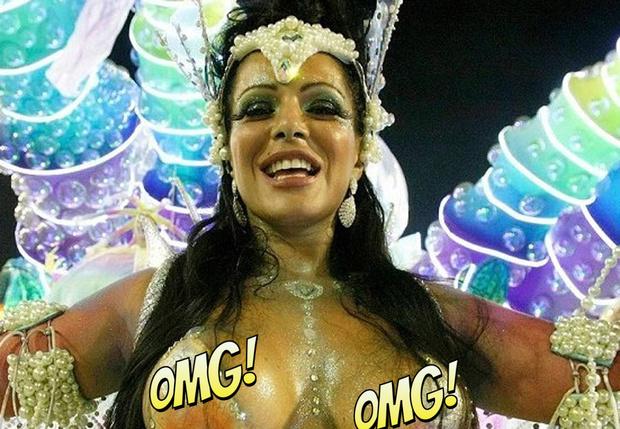 Фото №1 - Самые горячие участницы карнавала в Рио-де-Жанейро — 2018