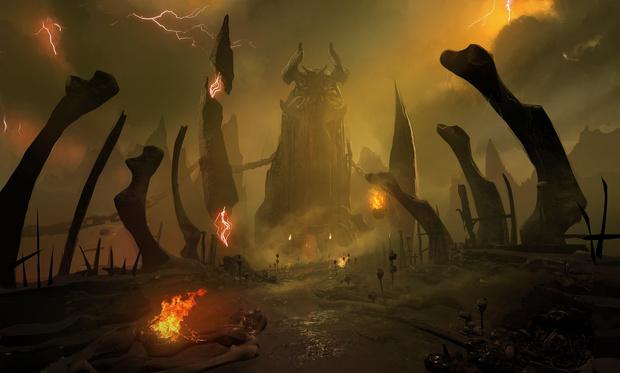 Фото №5 - Doom! Ад! Сатана! Дьявольски кровавые и эксклюзивные концепт-арты из грядущего игроужастика
