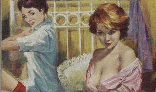 Обложки старых эротических книг про лесбиянок!