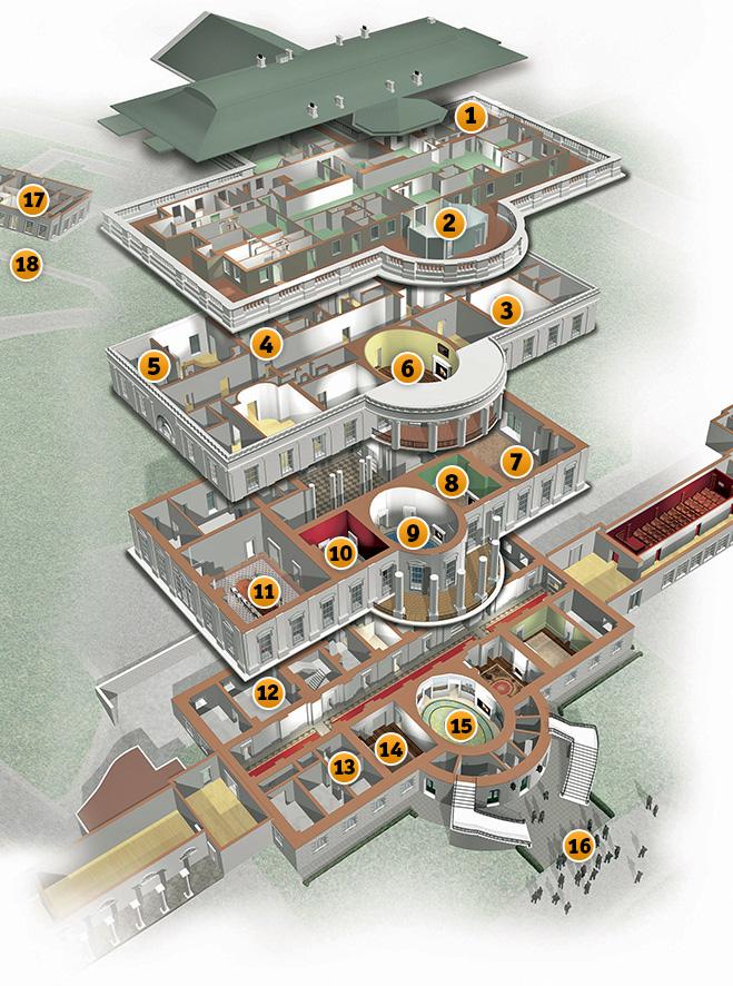 Схема американского Белого дома