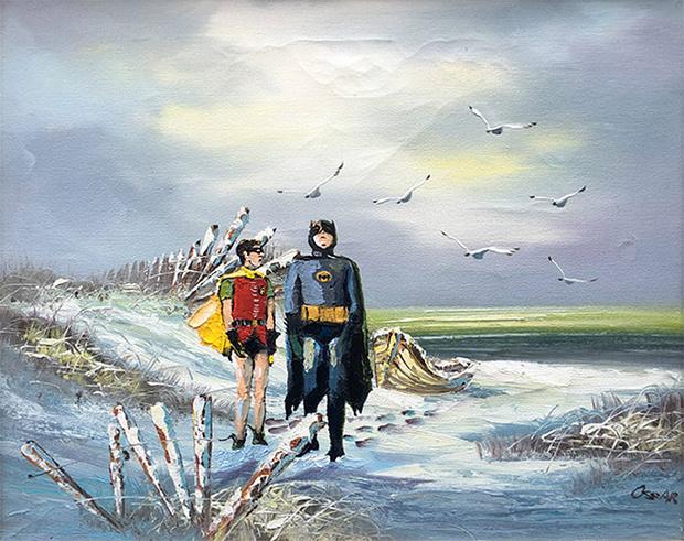 Фото №15 - Художник скупает никому не нужные полотна и делает их веселыми!