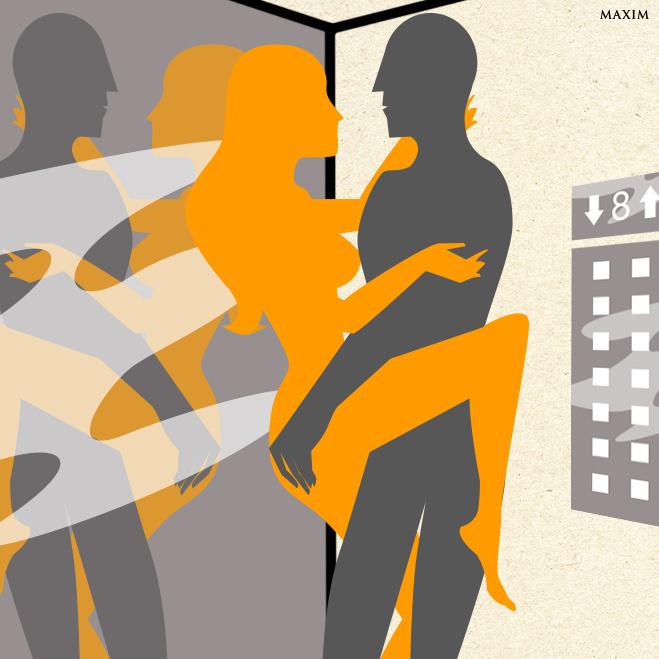 Лифт как место для секса