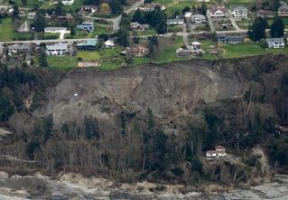 Фото месяца: оползень на острове Уидби, США