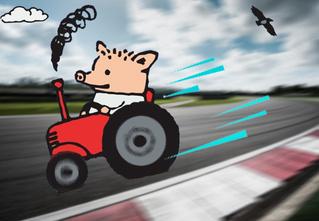 Британец разогнал трактор до 167 км/ч (видео)