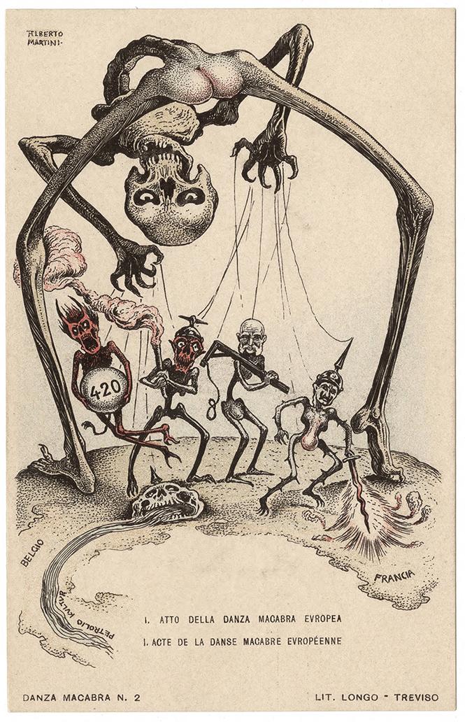 Фото №8 - Жутковатые карикатуры Первой мировой