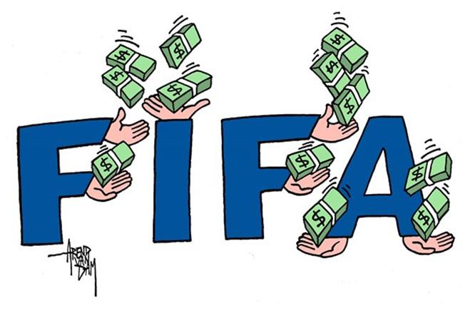 Фото №20 - Пенальти разных широт: коррупция ФИФА глазами иностранных карикатуристов