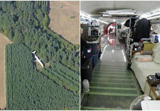 Настоящий жилой дом в заброшенном самолете посреди леса!