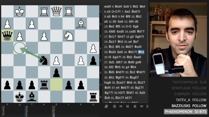Фото №1 - Игрок-любитель в анонимном интернет-блице обыграл чемпиона мира по шахматам (видео)