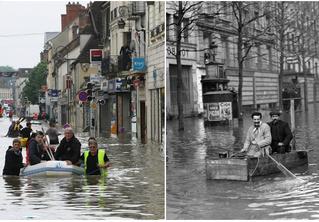Ошарашивающие фото потопа в Париже: сейчас и в 1910 году