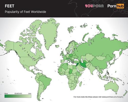 Грудь или попа? Географическая карта, показывающая, что популярнее в разных странах