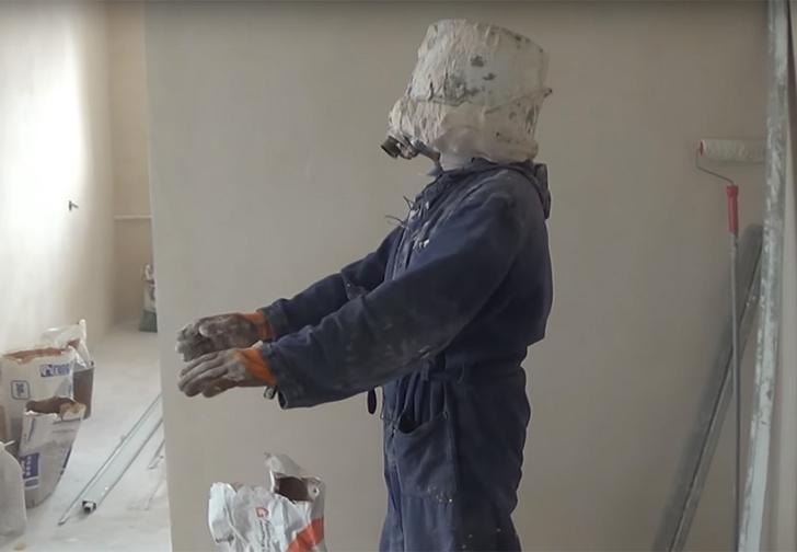Фото №1 - Что будет, если замуровать свою голову в строительном гипсе