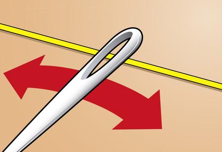 Простейший способ вдеть нитку в иголку