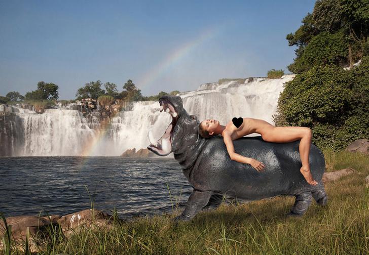 Фото №1 - Модель снялась обнаженной в африканском парке, чтобы защитить природу