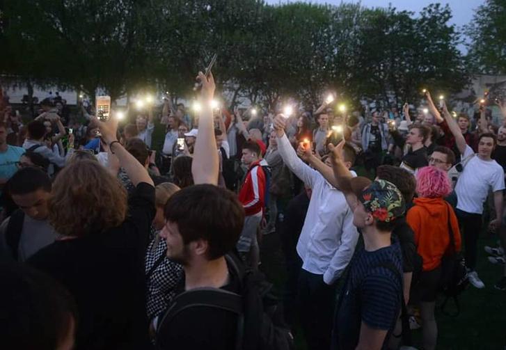 Фото №1 - «Власти должны слушать народ»: Екатеринбург протестует против строительства храма