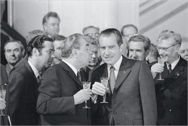 Леонид Брежнев и Ричард Никсон, 1972 год
