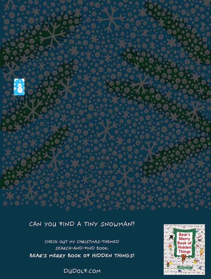 Фото №4 - Предновогодняя головоломка: найди снеговика на этой картинке