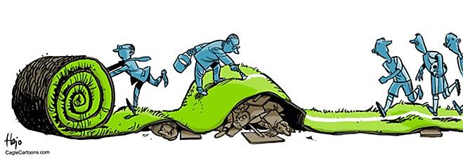 Фото №12 - Пенальти разных широт: коррупция ФИФА глазами иностранных карикатуристов
